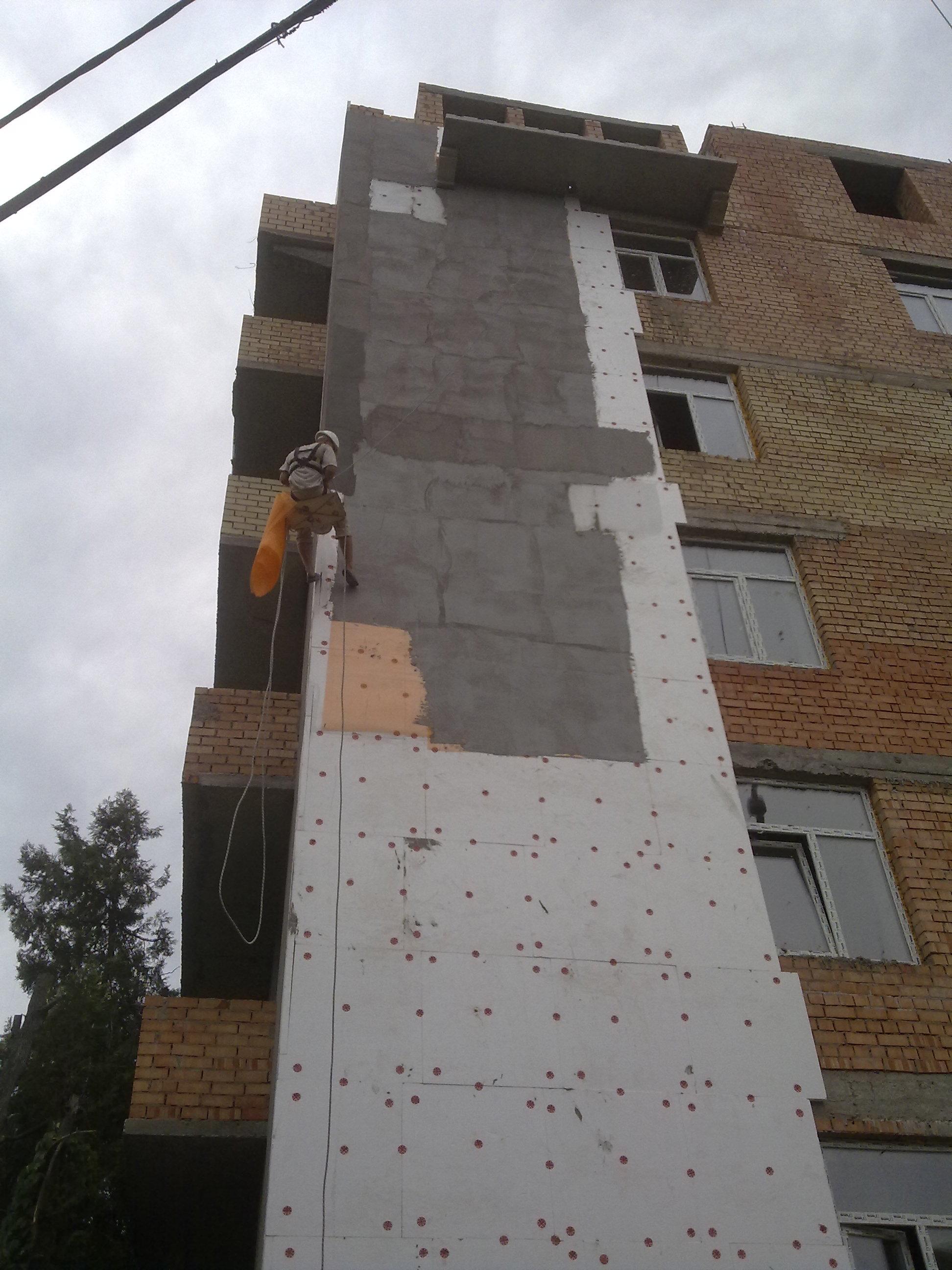 Утепление стен панельных зданий